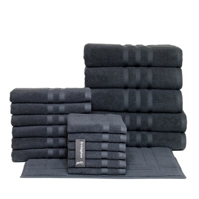Irvington 18 Piece Towel Set Color: Charcoal
