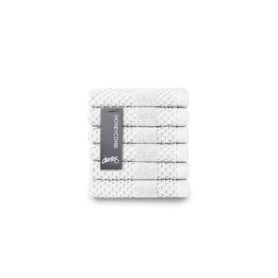 Honeycomb Washcloth Color: White