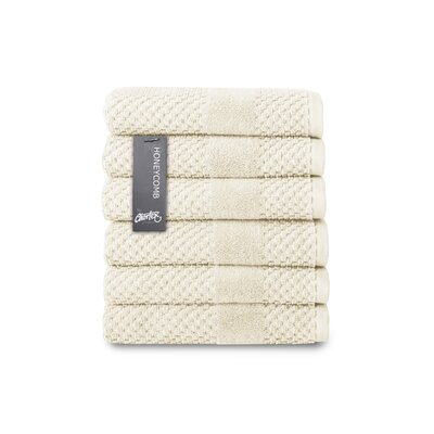 Honeycomb Hand Towel Color: Almond