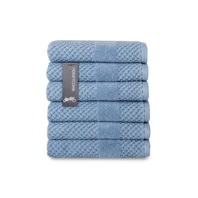 Honeycomb Hand Towel Color: Blue