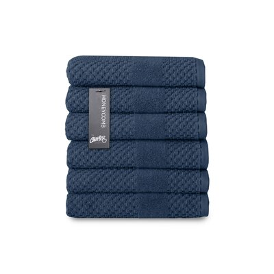 Honeycomb Hand Towel Color: Navy