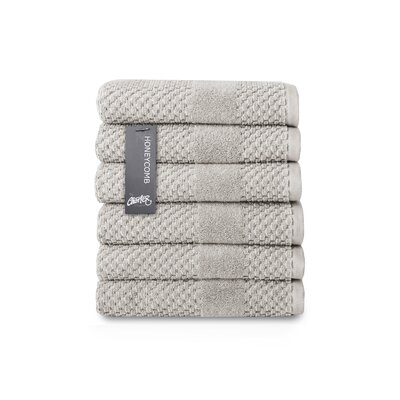 Honeycomb Hand Towel Color: Silver