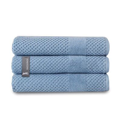 Honeycomb Bath Towel Color: Blue