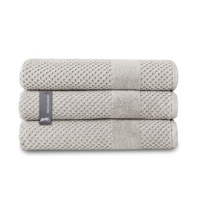 Honeycomb Bath Towel Color: Silver