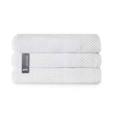 Honeycomb Bath Towel Color: White