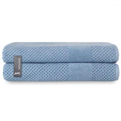 Honeycomb Bath Sheet Color: Blue