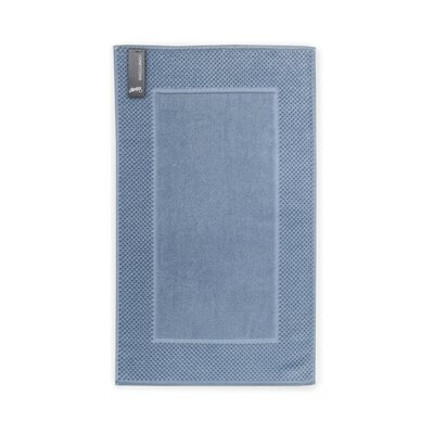 Honeycomb Bath Rug Color: Blue