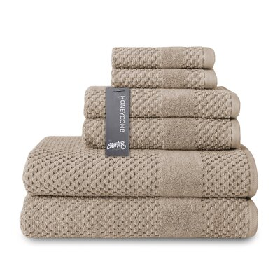 Honeycomb 6 Piece Towel Set Color: Flax