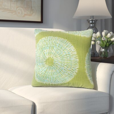 Paladin Ikat Cotton Throw Pillow Color: Seaglass