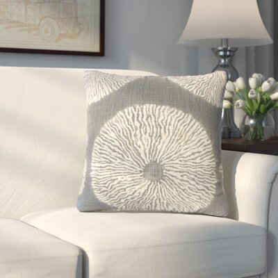 Paladin Ikat Cotton Throw Pillow Color: Graystone