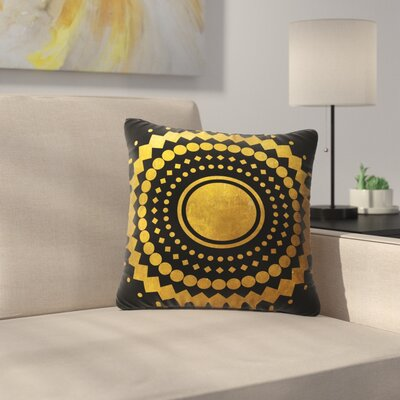 Matt Eklund Gilded Confetti Geometric Outdoor Throw Pillow Size: 18