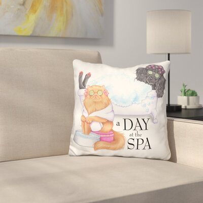 Spa Poodle Persian Throw Pillow