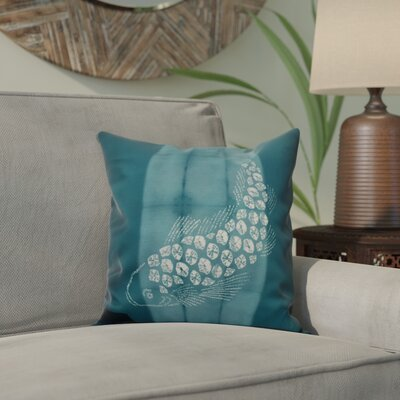 Viet Fish Pool Indoor/Outdoor Throw Pillow Size: 16 H x 16 W, Color: Teal