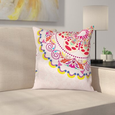 Modern Waterproof Floral Graphic Print Square Pillow Cover Size: 18 x 18