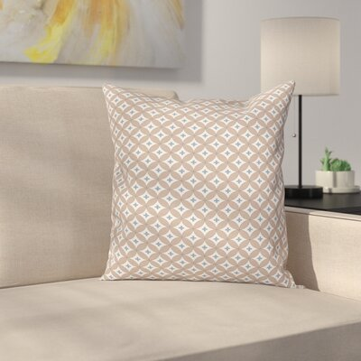 Circles Plus Signs Square Pillow Cover Size: 18 x 18