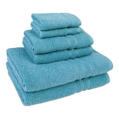 6 Piece Towel Set Color: Lake