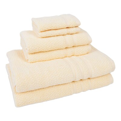 6 Piece Towel Set Color: Sunrise