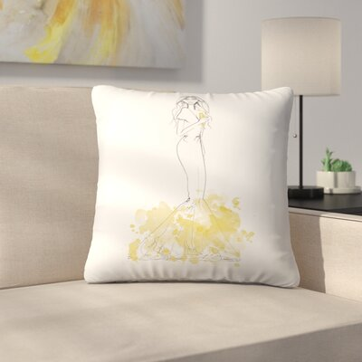 Party Gold Throw Pillow Size: 16 x 16