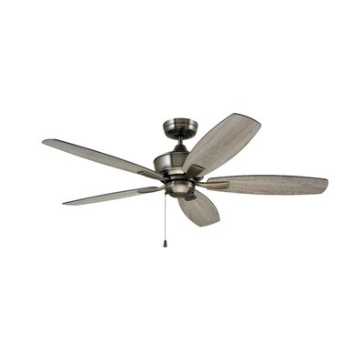 52 Imes 5 Blade LED Ceiling Fan Finish: Stainless Steel with Charcoal / Timber Gray