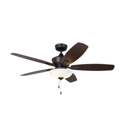 52 Imes 5 Blade LED Ceiling Fan Finish: Oil Rubbed Bronze with Dark Cherry / Walnut