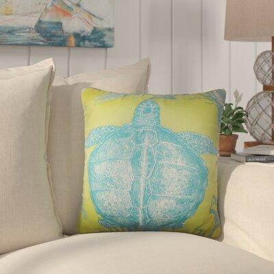 Simonton Coastal Throw Pillow Color: Lime