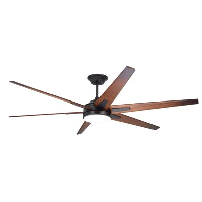 72 Durst 6 Blade LED Ceiling Fan Finish: Oil Rubbed Bronze with Sunburst Walnut Blades