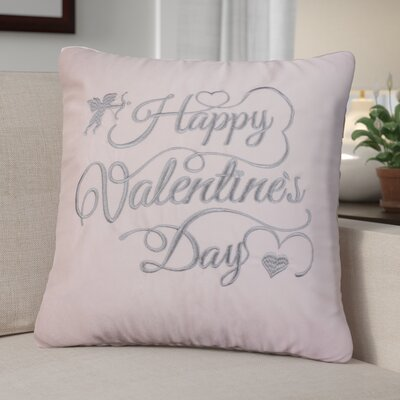 Duplantis Valentines Day Embroidery Throw Pillow