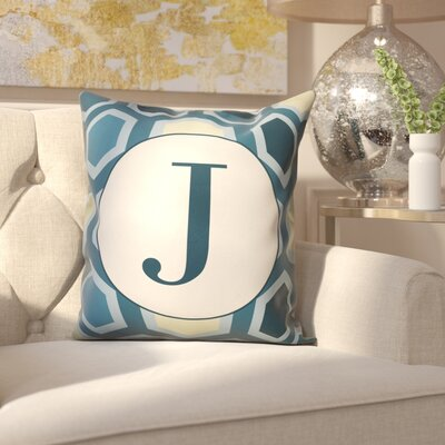 Hartig Hexagon Monogram Pillow Letter: J