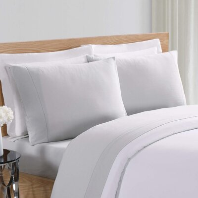Luxe Cotton Linen Pillowcase Size: Standard, Color: Gray