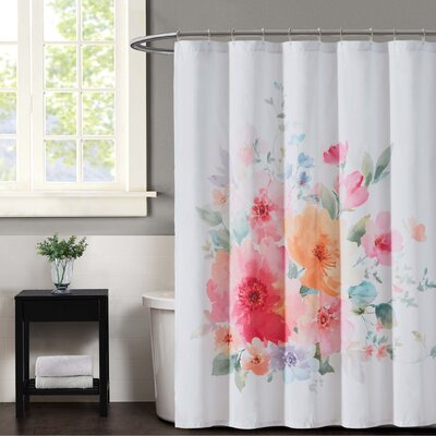 Bold Floral Shower Curtian
