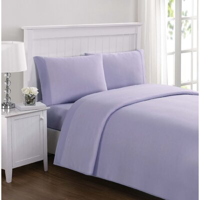 Shakira Kids Solid Sheet Set Size: Full, Color: Lavender