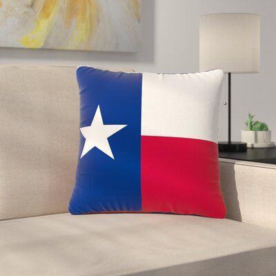 Bruce Stanfield Flag of Texas Outdoor Throw Pillow Size: 16 H x 16 W x 5 D