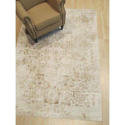 Phares Distressed Ivory Area Rug Rug Size: Rectangle 53 x 76