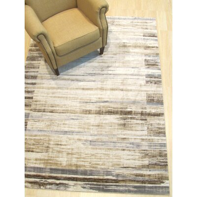 Gulley Distressed Beige/Gray Area Rug Rug Size: Rectangle 53 x 73