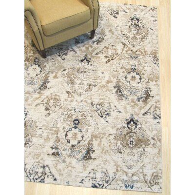 Lecuyer Distressed Ivory Area Rug Rug Size: Rectangle 53 x 73