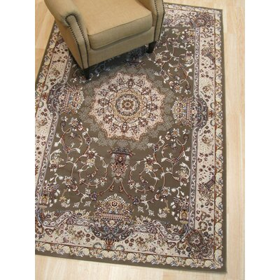 Hunziker Medallion Mocha Area Rug Rug Size: Rectangle 86 x 116