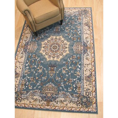 Hunziker Medallion Blue Area Rug Rug Size: Rectangle 7'10