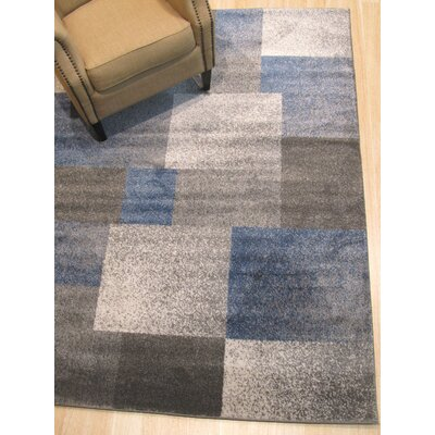 Matsumura Modern Blue/Gray Area Rug Rug Size: Rectangle 710 x 910