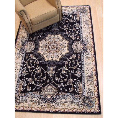 Hunziker Medallion Navy Blue Area Rug Rug Size: Rectangle 7'10