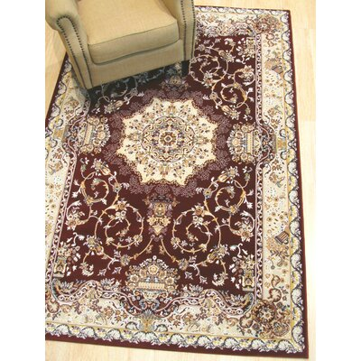 Hunziker Medallion Brown Area Rug Rug Size: Rectangle 4'11