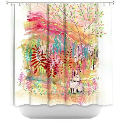Cotton Tail Bunny Rabbit Shower Curtain