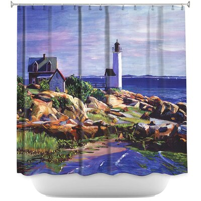 Maine Lighthouse Shower Curtain
