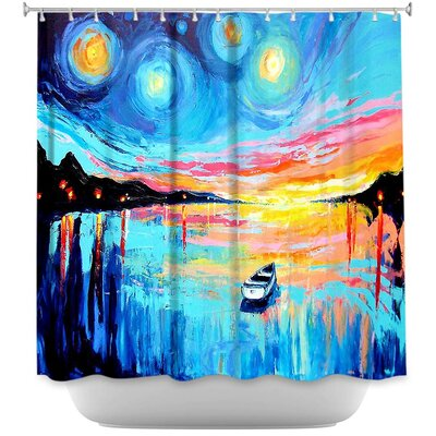 Midnight Harbor L Shower Curtain