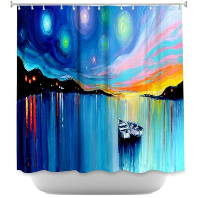 Midnight Harbor xxxii Shower Curtain