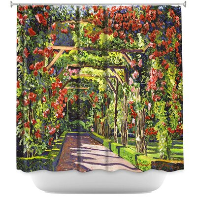 Candelario Paris Rose Arbor Shower Curtain