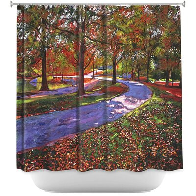 Road by Lake Shower Curtain