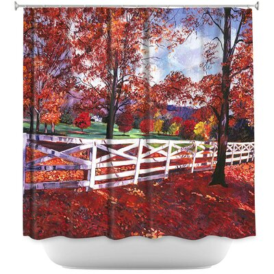 Vermont Fence Shower Curtain