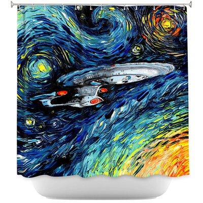 Van Gogh Star Trek Painting Shower Curtain