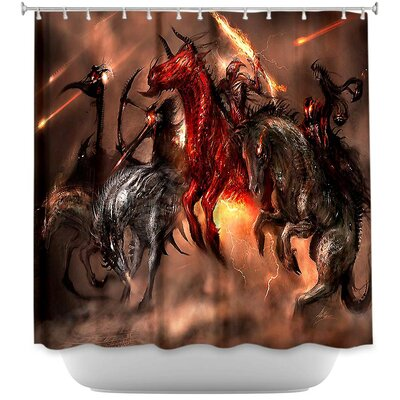 Four Horsemen Dragons Shower Curtain