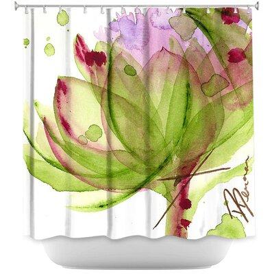 Luellen Artichoke Flower Shower Curtain